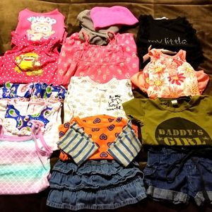 Girl Sz 6-9mo Lot of 14 Pc Gently Used Clothing